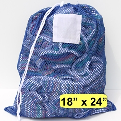 Laundry Bag Blue Mesh Net