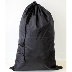 "Black 24""x 36"" polyester laundry bag"