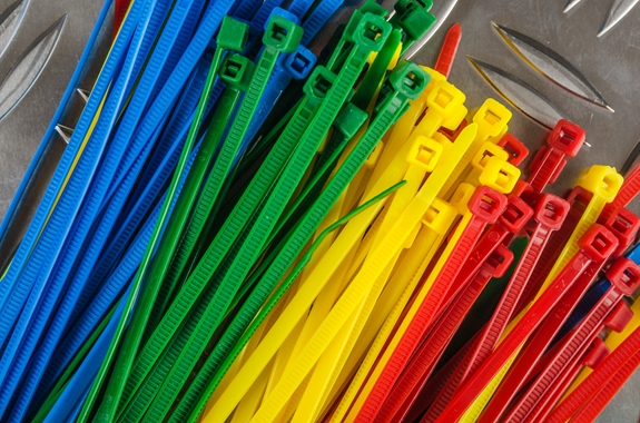 4 inch plastic cable ties various colors