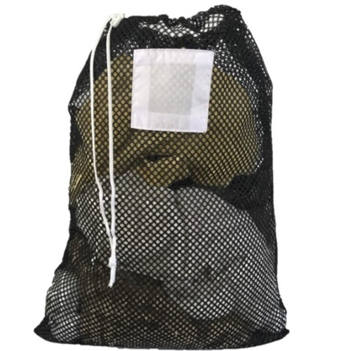"Black Mesh Net Draw String Laundry Bags 18"" x 24"""