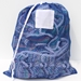 "Blue Mesh Net Draw String Laundry Bags 18"" x 24"""