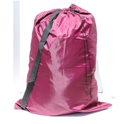 "Burgundy Laundry Bag with Carry Strap 30""x40"" (each)"