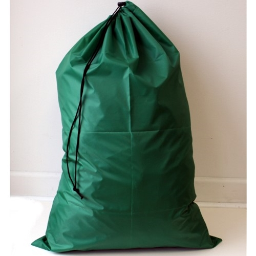 "Green 24"" x 36"" Polyester Laundry Bag (each)"