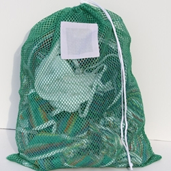 "Green Mesh Net Draw String Laundry Bags 24"" x 36"""