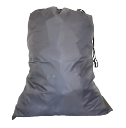 Grey Polyester Laundry Bags 30x40 with drawstring