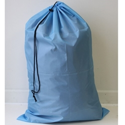 "Light Blue 24"" x 36"" Polyester Laundry Bag (each)"