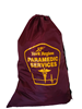 Sample of a burgundy polyester bag with a paramedic service organization logo