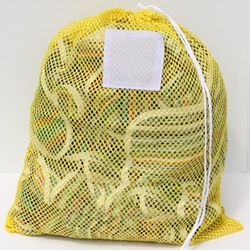 "Yellow Mesh Net Draw String Laundry Bags 18"" x 24"""