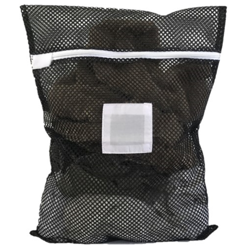 "Zipper Black Mesh Net Laundry Bags 18"" x 24"""