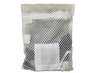 "Zipper White Mesh Net Laundry Bags 10"" x 12"""