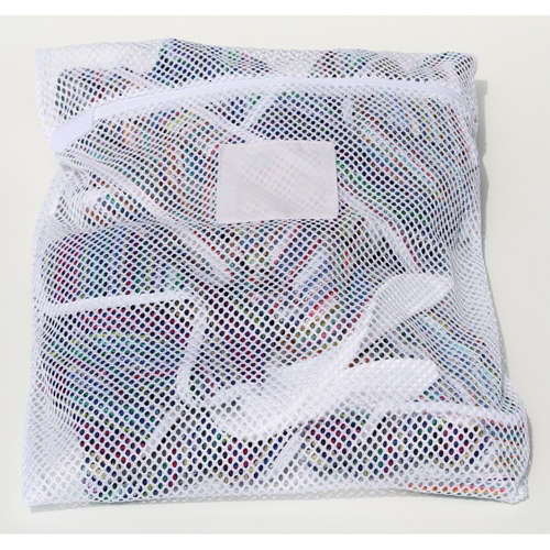 "Zipper White Mesh Net Laundry Bags 24"" x 36"""